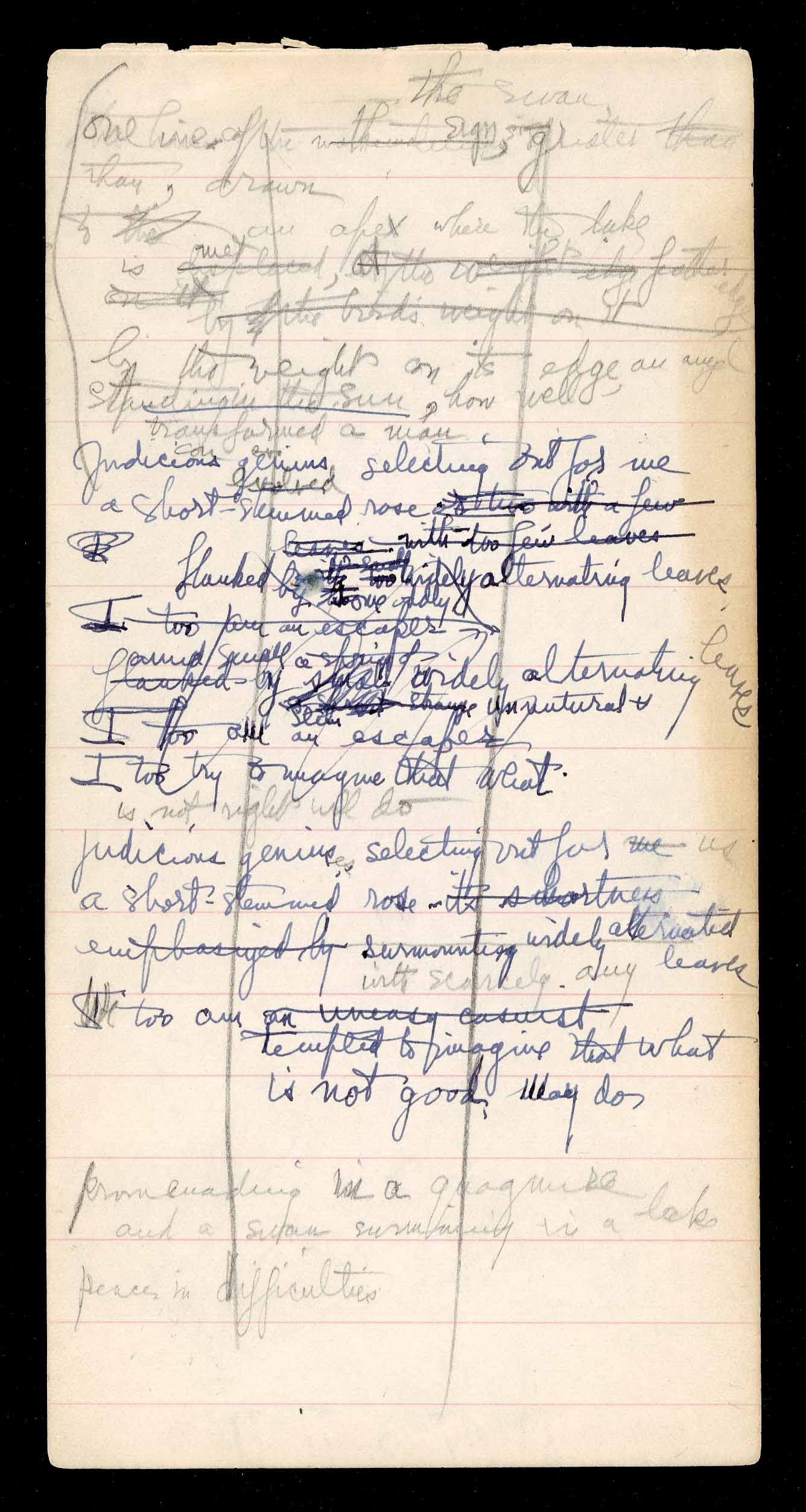 7.04.07, image 5; Poetry Notebook from the 1930s.