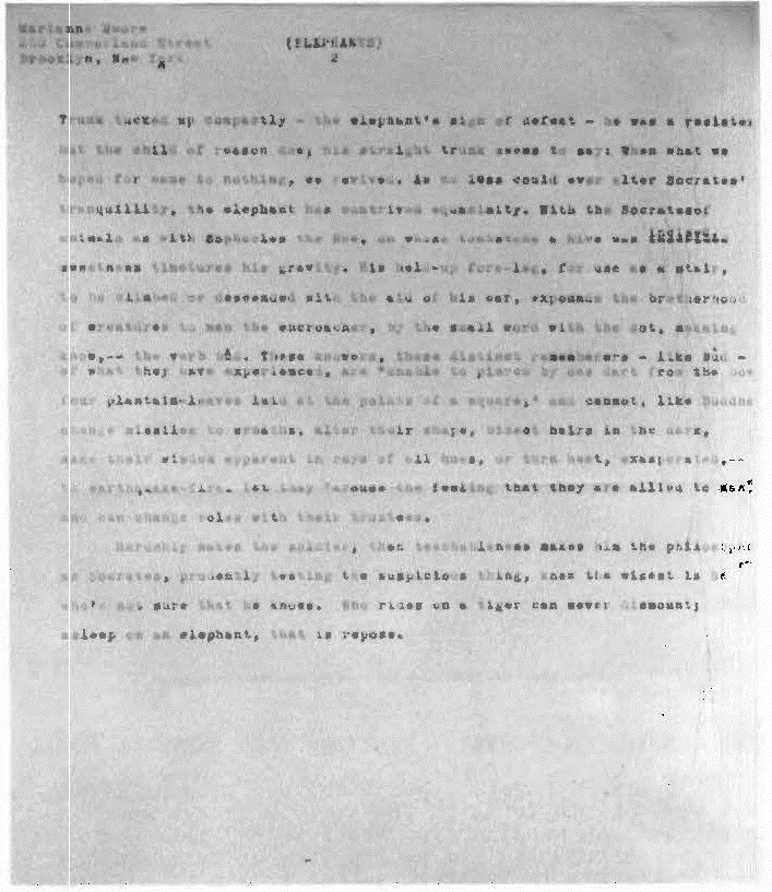 Moore Archive - Marianne Moore Newsletter - Volume 5 Number